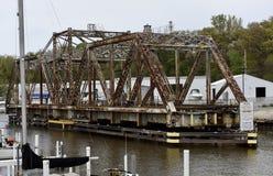 Мост качания города Мичигана Стоковое фото RF