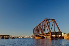 Мост качания и портовый район Вашингтона Стоковое Изображение RF