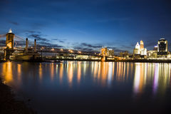 мост Кентукки Огайо Стоковое Фото