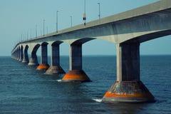 Мост конфедерации в Острове Принца Эдуарда в Канаде Стоковая Фотография