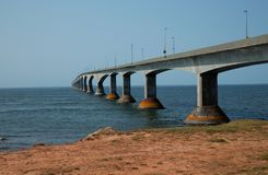 Мост конфедерации в Острове Принца Эдуарда в Канаде Стоковое Фото