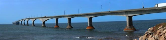 Мост конфедерации в Острове Принца Эдуарда в Канаде Стоковое фото RF
