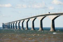 Мост конфедерации - Канада Стоковые Фото