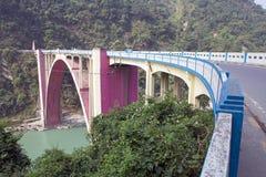 Мост коронования, западная Бенгалия, Индия Стоковое Изображение RF