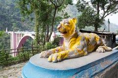 Мост коронования, западная Бенгалия, Индия Стоковая Фотография