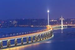 Мост корридора Hong Kong Shenzhen западный Стоковые Фото