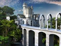 Мост к белому замку Стоковое Изображение