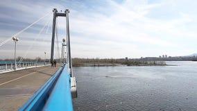 Мост к острову Tatyshev сток-видео