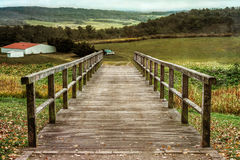 Мост к ферме Стоковое Фото