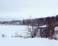 Мост к fairytail зимы Стоковые Изображения RF