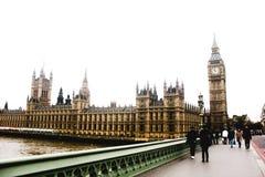 Мост Лондона Вестминстера, Вестминстерское Аббатство, дворец Вестминстера, большого Бен Стоковое Фото