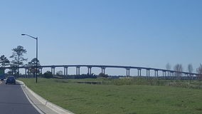Мост Луизианы Стоковое фото RF