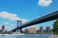 Мост 4 Манхаттана Стоковое Изображение