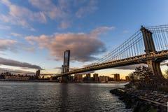 Мост Манхэттена от Бруклина - Нью-Йорка стоковое фото