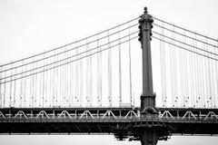 Мост Манхэттена, увиденный от DUMBO, в Бруклине, Нью-Йорк стоковые фото