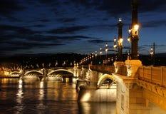 Мост Маргарет в Будапешт Стоковое фото RF