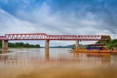 Мост Меконг Chai Buri Лаос Стоковые Фотографии RF