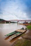 Мост Меконг Chai Buri Лаос Стоковое Изображение RF