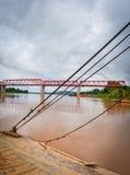 Мост Меконг Chai Buri Лаос Стоковое Изображение