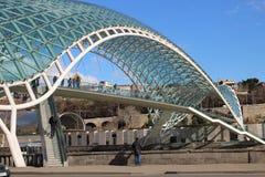 Мост мира в Тбилиси, Georgia Стоковое Изображение