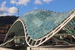 Мост мира в Тбилиси, Georgia Стоковое фото RF