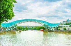 Мост мира в Тбилиси Стоковое Изображение