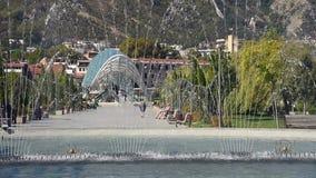 Мост мира в Tibilisi, Georgia видеоматериал