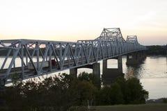 мост Миссиссипи над рекой Стоковое Изображение RF