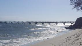 Мост морского побережья длинный стоковое изображение rf