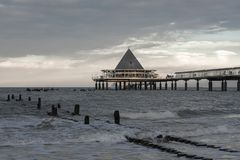 Мост моря Heringsdorf стоковая фотография