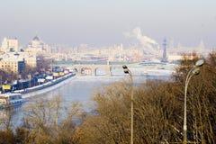 Мост Москвы патриархальный стоковые фотографии rf