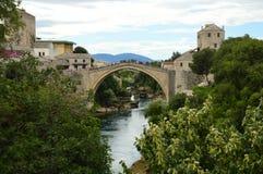 Мост Мостара в Босния и Герцеговина Стоковые Изображения