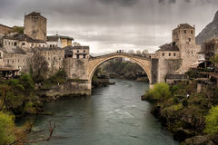 Мост Мостара стоковое изображение rf