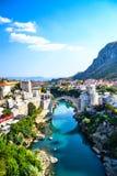 Мост Мостара стоковая фотография rf