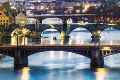 мост над Влтавой в Праге Стоковая Фотография