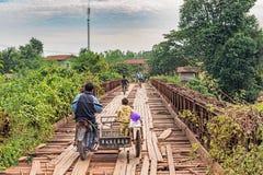 Мост над данником Меконга Стоковые Изображения RF