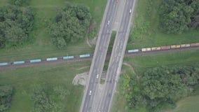 Мост над железной дорогой видеоматериал