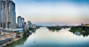 Мост над рекой Дон Rostov On Don Россия Стоковое Изображение