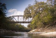 мост над рекой Стоковые Фотографии RF