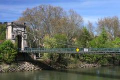 мост над рекой saone Стоковое Фото