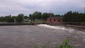 Мост над рекой Seneca сток-видео