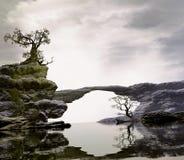 Мост над тихими водами стоковые изображения