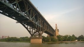 Мост Нанкина Рекы Янцзы Китая Стоковое Изображение RF