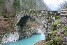 Мост Наполеона в Словении Стоковые Фотографии RF