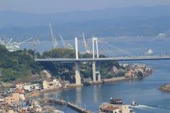 мост на городе Onomichi Стоковые Фото