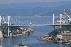мост на городе Onomichi Стоковое Фото