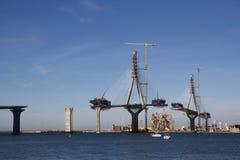 Мост на конструкции Стоковое Фото