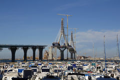 Мост на конструкции Стоковые Фото