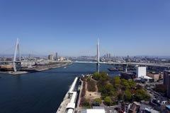 Мост над морем в Осака Стоковое Фото