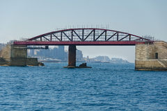 Мост на море в ремонте Стоковое Фото